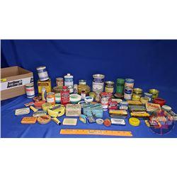 Tray Lot: Large Variety of Ointment & Medicinal Tins (See Pics)