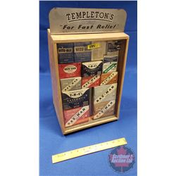 "Templeton's Counter Top Wooden Display Stand - Glass Front w/Contents! (17""H x 11""W x 8""D)"