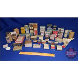 Tray Lot: Variety Vintage Medicine Bottles & Boxes (See Pics)