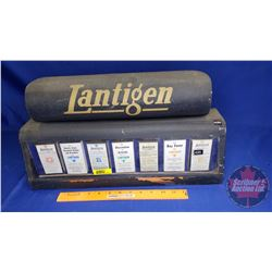 """LANTIGEN"" Counter Top Store Display Tin - Glass Front Window (10""H x 19""W x 5""D)"