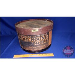 """Hore Hound Drops"" Wooden Drum (9""H x 13""Dia)"