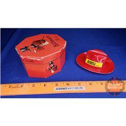 "Vintage Miniature Biltmore Hat - Promotional / Sales Sample Plastic Hat in Box (2-1/2""H)"