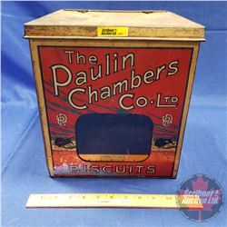 "The Paulin Chambers Co. Ltd. Biscuit Tin - Glass Front Window (11-3/4""H x 10-1/2""W x 10-1/2""D)"