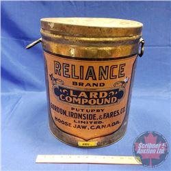 "Alliance Lard Compound - Large Tin (14-3/4""H x 12""Dia)"