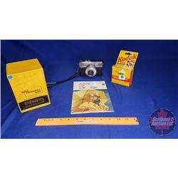 Kodak Photographic Paperbox, Kodachrome 40, Kodak info Book and Zeiss Ikon Voigtlander Camera
