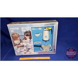 """29pc Set - Service for 4 """"Breakfast Set with Toy Plastic Replicas of Corningware"""