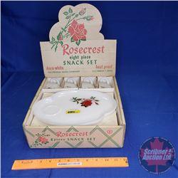 """Rosecrest Snack Set"" Eight Piece in Original Box"