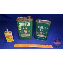 Singer Oil Tins (3) (See Pics)