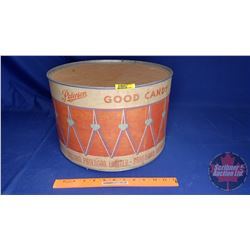 """Paterson Good Candy"" Cardboard Tin (9-1/2""H x 14""Dia)"
