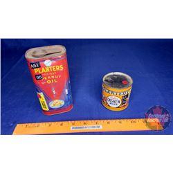 2 Planters Tins : Peanut Oil & Cashew Nuts