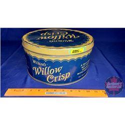 """Willard's Willow Crisp"" Tin (5-1/4""H x 10-1/4""Dia)"