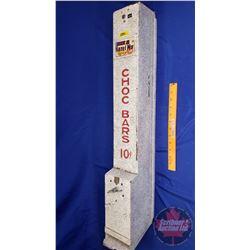 "Choc Bars Vending Machine (wall mount) ""Choc Bars 10 Cent"" (33""H x 4-1/2""W x 6""D)"