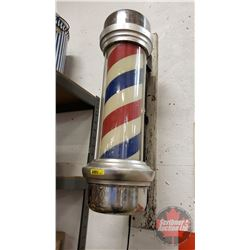 "Barber Pole 26"" William Marvy Company (Not Working, Needs New Motor)"