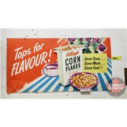 "Cornflakes Cardboard Store Display Ad (11""H x 21""W)"