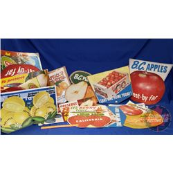 Box Lot: Large Variety of Paper Fruit Grocery Store Ads