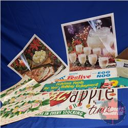 Box Lot: Grocery Store Advertising (Christmas Theme - Variety) (See Pics)