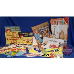Box Lot: Assorted Grocery Store Advertising - Large Variety (See Pics)