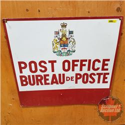 "Post Office - Metal Sign (24"" x 23"")"
