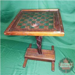 Primitive Checkerboard Table