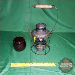C.P.R. Lantern - Adlake Kero Clear Glass Globe & Extra Red Globe