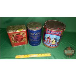 Tin Trio: Bagdad Coffee, Consumers Wholesale Grocery Co., Red Tea Tin