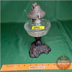 "Cast Base Oil Lamp (No Chimney) (9""H)"