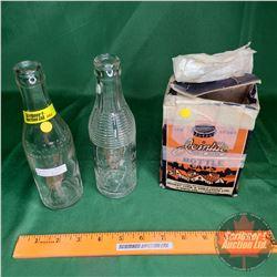 Calgary Polar Brand Bottle & Shamrock Bottling Works Medicine Hat Bottle & Join Tite Bottle Caps in