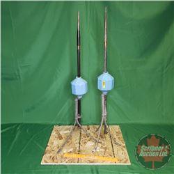 "Pair of Lightning Rods - Blue Balls (31""H)"