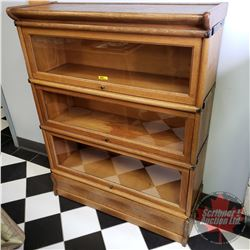 """3 Section Oak Barrister Stacking Book Case """"Macey"""" (43""""H x 34""""W x 12""""D)"""