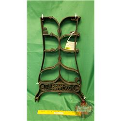 """Cast Iron Legs/Stand """"Farmers Supply Co."""" c.1900 (25""""H)"""