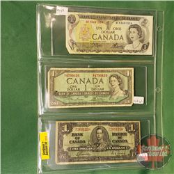 Canada $2 Bills (3): 1973; 1954; 1937 (See Pics for Signatures & Serial Numbers)