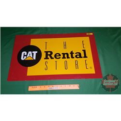 """CAT Rental"" Metal Sign (24"" x 14"")"