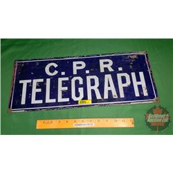 "CPR Telegraph Enamel Sign (20"" x 8"") (Double Sided) ""Imperial England"" ""Acton Burrows Co. Agents, To"