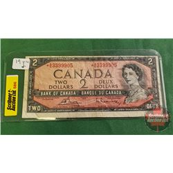 Canada $2 Bill 1954 *Replacement : Bouey/Rasminsky *AG3399905