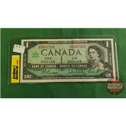 Canada $1 Bill 1967 : Beattie/Rasminsky HP3907205