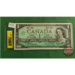 Canada $1 Bill 1967 Centennial No Serial Number