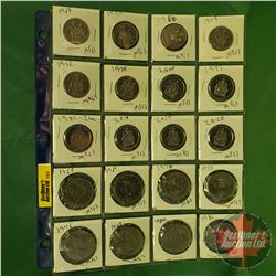 Canada Coins (20) : Fifty Cent (1968; 1974; 1986; 1975; 1976; 1979; 2000; 1997; 2002; 2018; 2009; 20