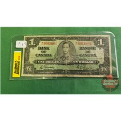 Canada $1 Bill 1937 Gordon/Towers WL3603064