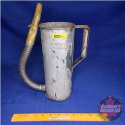 "Conco Bottom Pour Metal Oil Dispenser (11""H)"