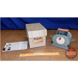 """Hand Crank Card Shuffler w/Orig Box """"Johnson"""" (Box = 6-1/2"""" x 9"""" x 6"""")"""