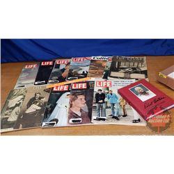 Tray Lot: Life Magazines & Robert Bateman Life Sketches Book