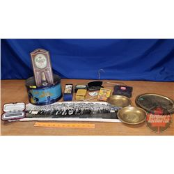 Thorne's Gala Assortment Tin with Contents (Bottle Opener, Radio, Hand warmer, Canada Coat of Arms T