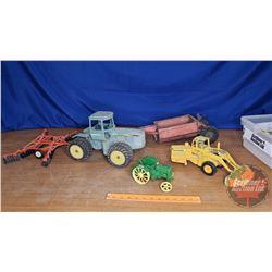 Tray Lot: Vintage Metal Farm Toys - Variety (5)