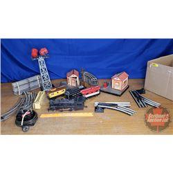 Box Lot: Toys Trains, Track & Accessories (Marx & Lionel) (See Pics)