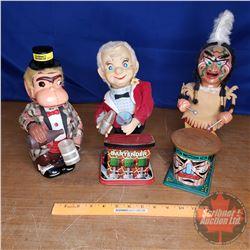 Tin Mech Toys Trio (See Pics)