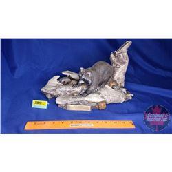 "Ducks Unlimited Raccoon Sculpture (194/800) (8""H x 13""W x 8""D)"