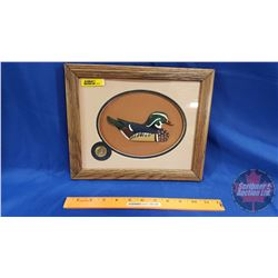 """Ducks Unlimited Framed Carving (10""""H x 12""""W)"""