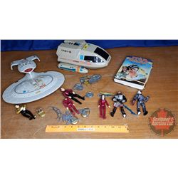 2 Star Trek Toys & 1 Star Wars Book