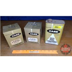 CASE Diesel Fuel Conditioner Tin (partial full) & Filters Boxes (2) Empty