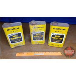 """CAT Tins (3) Rust Inhibitor Tins (7""""H x 4-1/2""""W x 2-1/2""""D)"""